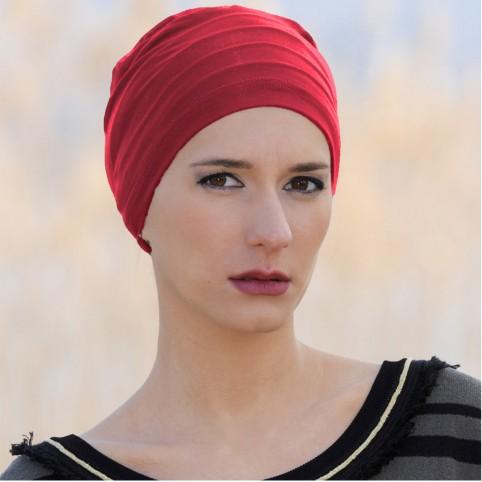 Bonnet de nuit Femme Rouge en Fibre de Bambou Pimprenelle MM Paris