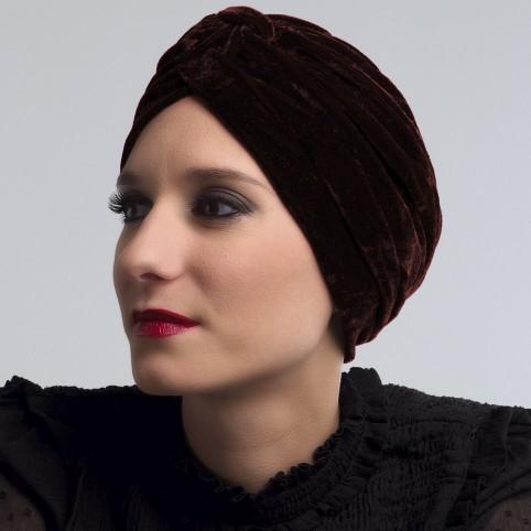 Turban Femme en velours modèle Éléonor Automne Hiver 2017