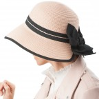 Chapeau MORGANE Rose Poudré de MM Paris, Créateur de Turbans