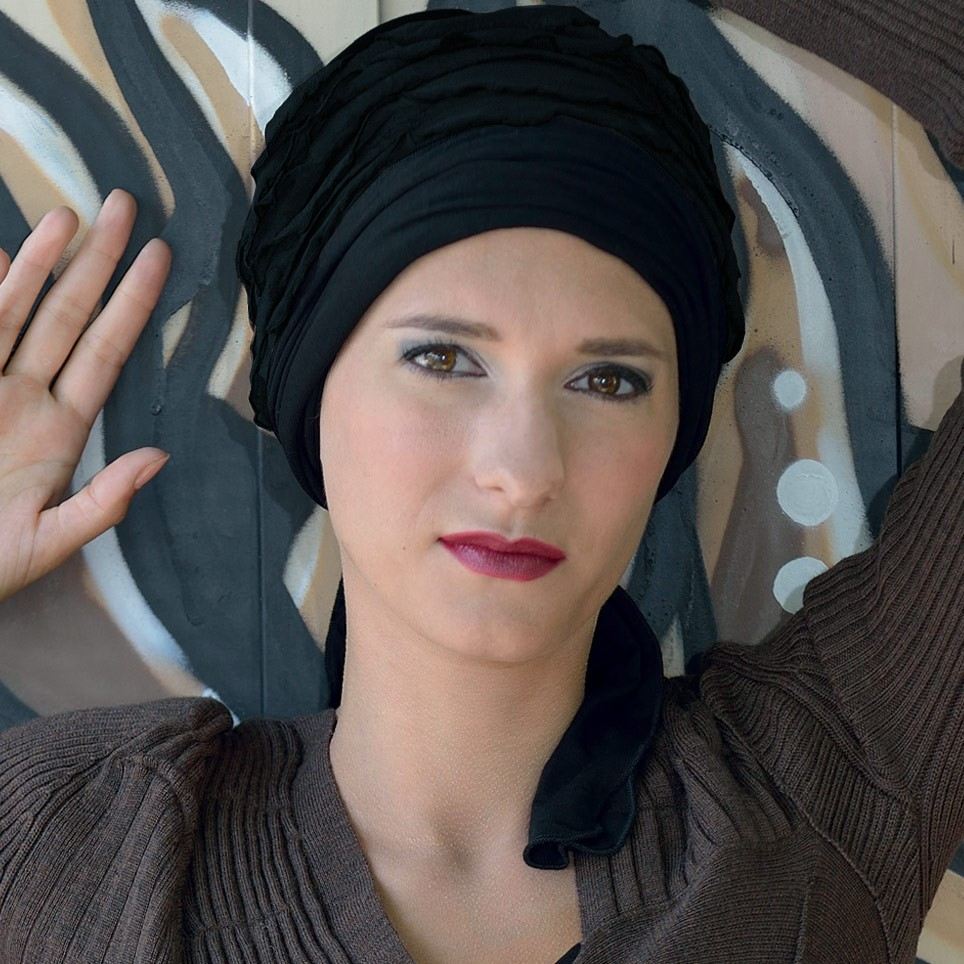 Turban Femme Ines Marron/Noir MM PARIS