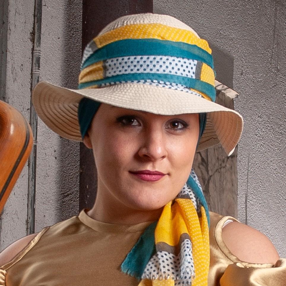 Chapeau femme à bords larges modèle UTAH MM PARIS