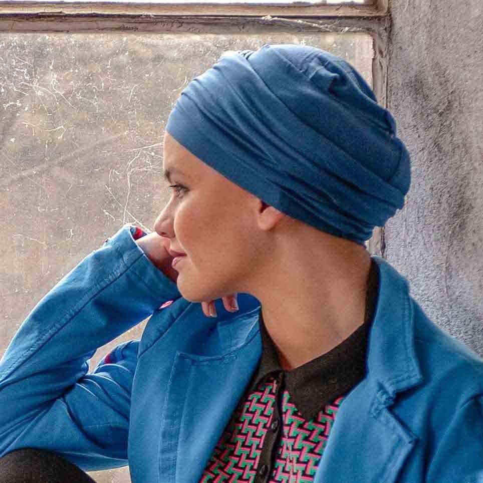 e76df60f7a0ed Turban à nouer Diana Noir en Fibe de Bambou par MM Paris Créateur de Turbans