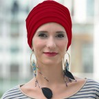Turban simple pour femme,  LOLA Bordeaux en Fibre de bambou, de MM Paris Créateur de Turbans.
