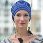 Bonnet d'hiver doublé bleu océan pour femme, bonnet LOLA en Fibre de bambou MM Paris