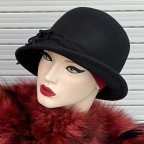 Chapeau femme en feutrine 100% laine modèle Béatrice MM PARIS