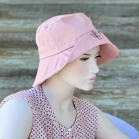 BOB chapeau femme rose, taille réglable, 100% coton MM PARIS