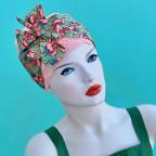 Bandeaux de tête rose verte pour l'été modèle Twist MM PARIS