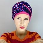 Turban Femme NADIA en fibre de bambou modèle Gommette