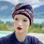 Turban Femme NADIA en fibre de bambou modèle Magenta