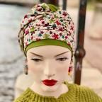 Turban Femme Noir et Or en fibre de bambou chic pour l'été modèle NADIA MM PARIS