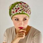 Turban Femme à petites fleurs de couleurs en fibre de bambou modèle Fleurs