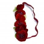 Bijoux de Turbans Petites Fleurs Bordeaux Grosssite MM PARIS