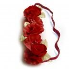Bijoux de Turbans Petites Fleurs Fushia Grossiste MM PARIS