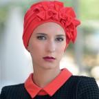 Turban Rouge pour Femme Modèle OCÉANE MM Paris