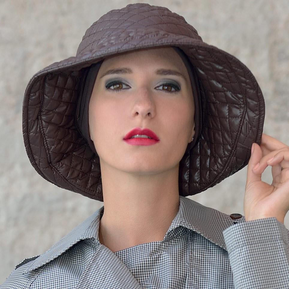 Chapeau Femme de couleur marron modèle Marta à bord large MM Paris