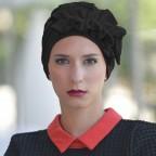 Turban Noir pour Femme Modèle OCÉANE MM Paris