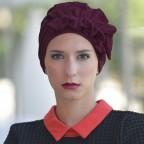 Turban Prune pour Femme Modèle OCÉANE MM Paris