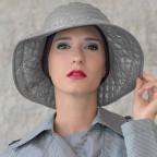 Chapeau Femme gris clair modèle Marta à bord large MM Paris