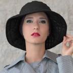 Chapeau Femme noir modèle Marta à bord large MM Paris