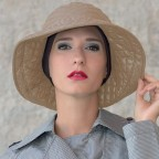Chapeau Femme beige modèle Marta à bord large MM Paris