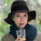 Chapeau Femme Noir Automne Hiver 100% Laine Modèle Carlo