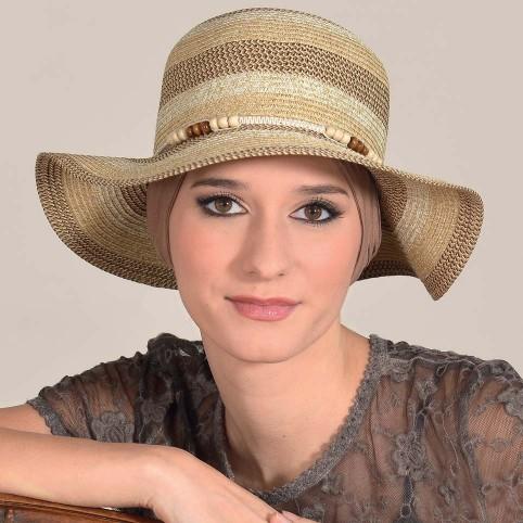 Chapeau Femme printemps été à bord large modèle SOLÈNE MM PARIS
