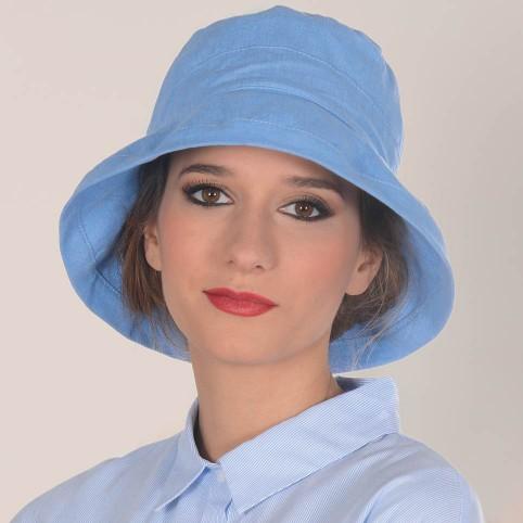 Chapeau BOB modèle en coton et lin modèle PHOENIX MM PARIS