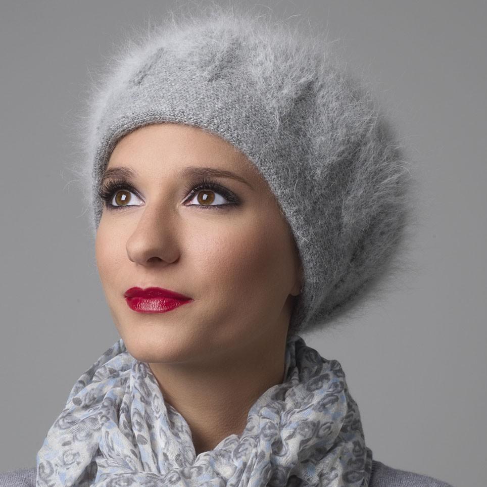 Bérêt Femme gris modèle Quentin MM PARIS