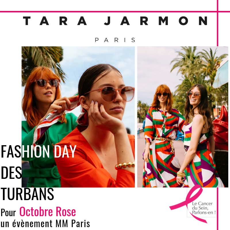 Tara Jarmon - Fashion Day des turbans MM Paris Défilé pour Octobre Rose
