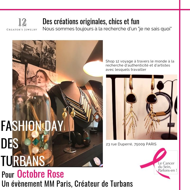 Shop12 - Fashion Day des turbans MM Paris Défilé pour Octobre Rose